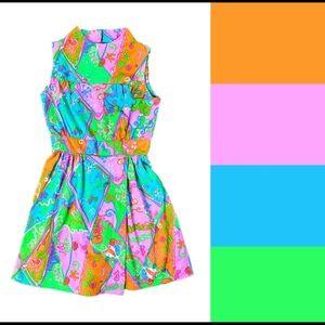 1960s vintage romper dress